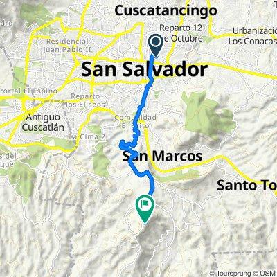 De 13 Calle Oriente #609, San Salvador a Carretera a Puerta del diablo, Los Planes de Renderos