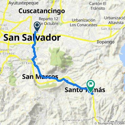 De 13 Calle Oriente #609, San Salvador a Autopista Comalapa