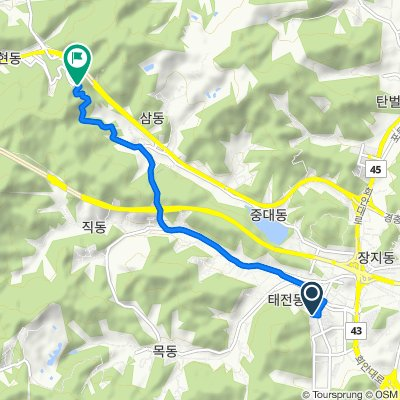Route to 103-5 Galhyeon-dong, Gwangju-si