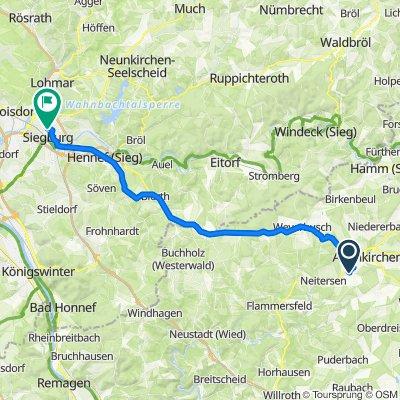 Route nach Kaiserstraße 56, Siegburg