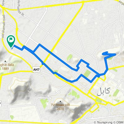 Moderate route in کابل