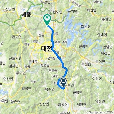 599 Majeon-ri, Geumsan-gun to 1011 Bongsan-dong, Yuseong-gu