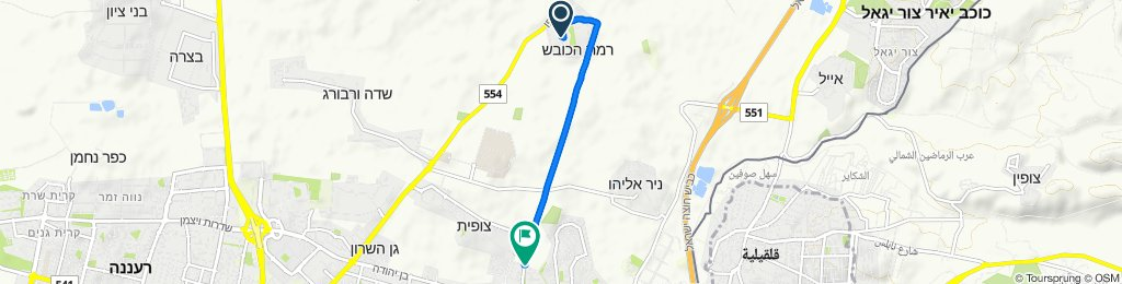Unnamed Road, Ramat HaKovesh to Nakhali'eli Street 25, Kefar Sava