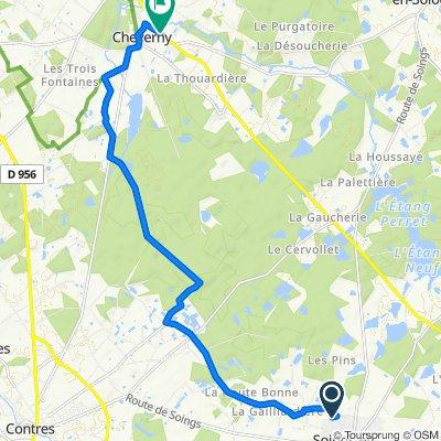 De Chemin du Sauveur 301, Soings-en-Sologne à Route de Romorantin 51, Cour-Cheverny