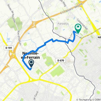De 10 Rue Georges Clemenceau, Neuville-en-Ferrain à Neerweg 118–122, Menin