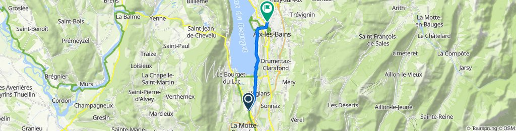 Moderate route in Aix-les-Bains