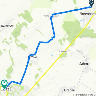 Lankener Weg 24, Elmenhorst nach Im Strange 28–30, Schwarzenbek