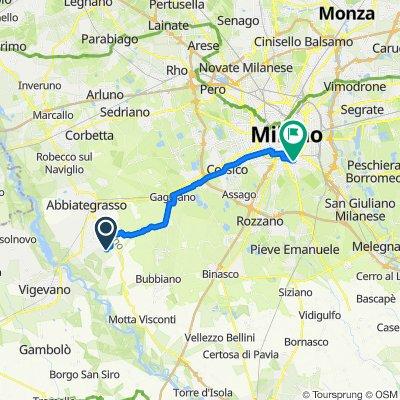 Da Cascina Monte Oliveto, Morimondo a Via Ampola 12, Milano