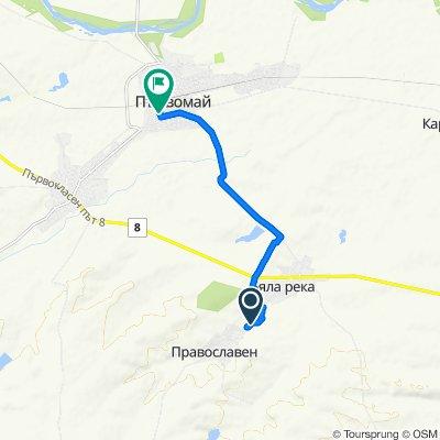 Unnamed Road, Православен to улица Кочо Честименски 7, Първомай