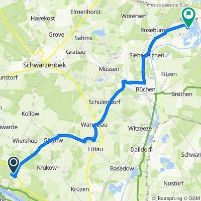 Route von Josef-von-Scheffel-Weg 28, Geesthacht