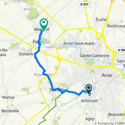 Restful route in Maroeuil