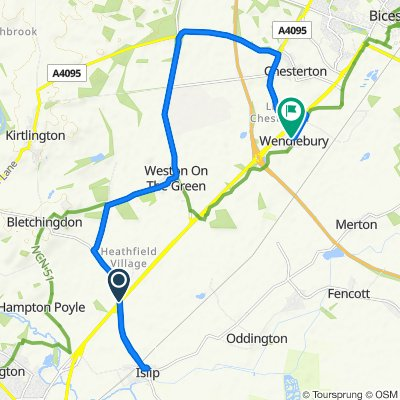 Moderate route in Bicester