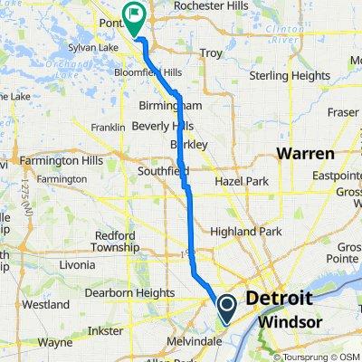 8173 Lafayette Blvd W, Detroit to 655 South Blvd E, Pontiac