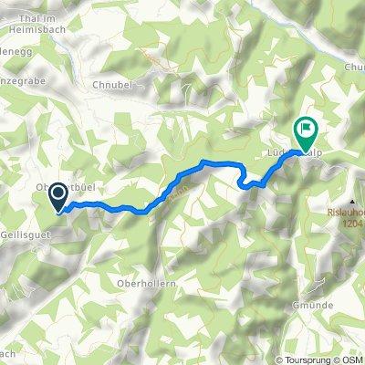 Restful route in Wasen im Emmental