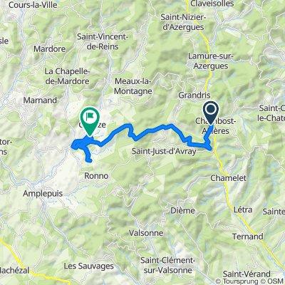 Itinéraire à partir de Route du Michel, Chambost-Allières