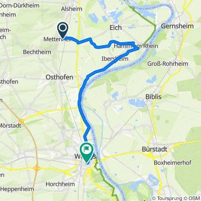 Am Goldbach 4, Mettenheim nach Hagenstraße 3, Worms