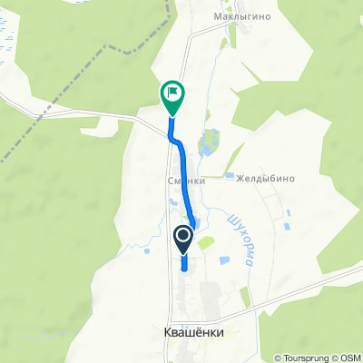маршрут с Квашенки поселок, 125, Ермолинское