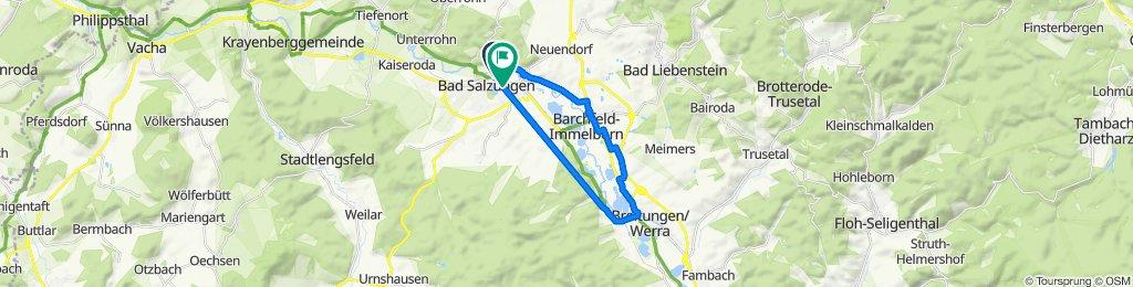 Halber Mond 2, Bad Salzungen nach Heinrich-Mann-Straße 9, Bad Salzungen