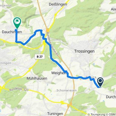 Supersonic route Schura - Dauchingen