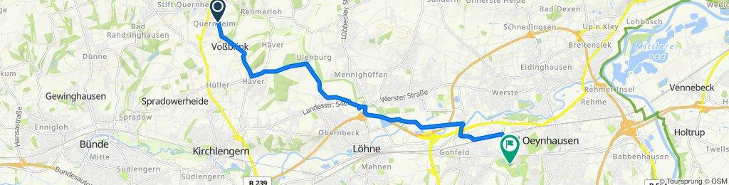 Hagedorner Straße 234, Kirchlengern nach Bültestraße 50, Löhne