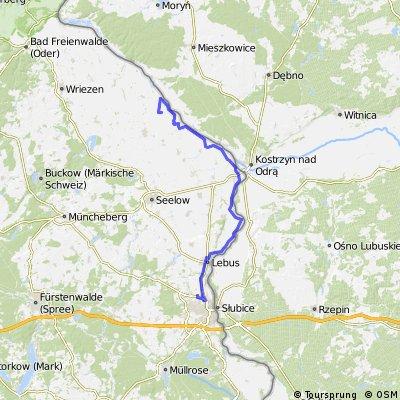 """10.07.28 bei Frankfurt/Oder-Klistow-Kienitz, """"Erlenhof"""" (15. Etappe)"""