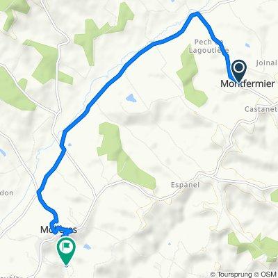 De Route du Village, Montfermier à La Perrine, Molières