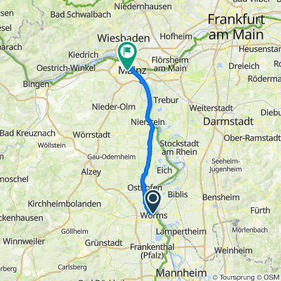 Worms - Mainz Hbf