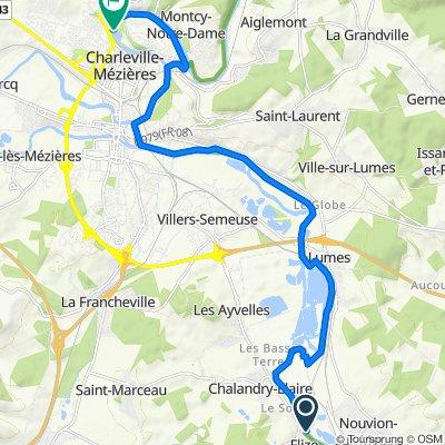 Itinéraire modéré en Charleville-Mézières