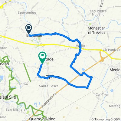 Da Via Paris Bordone 35, Roncade a Via Giovanni XXIII 29/I, Roncade