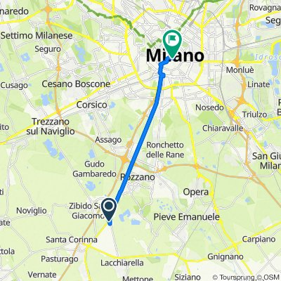 Moderate route in Milano