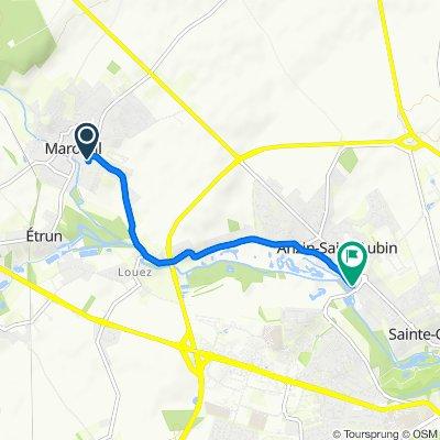 Itinéraire modéré en Anzin-Saint-Aubin