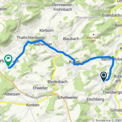 Auf der Höll 5, Haschbach am Remigiusberg nach Im Pfarracker 5, Pfeffelbach