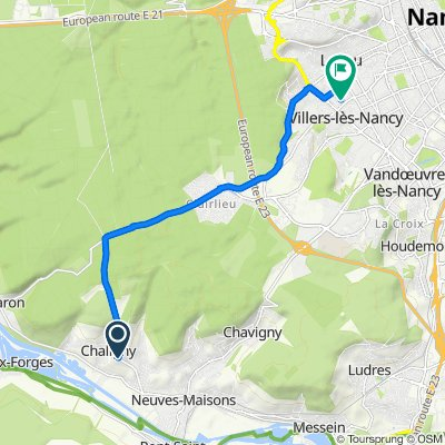 Itinéraire modéré en Villers-lès-Nancy