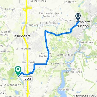 De 7 Rue des Landes, Dompierre-sur-Yon à Giratoire de la Longère, Mouilleron-le-Captif