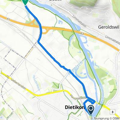Restful route in Dietikon