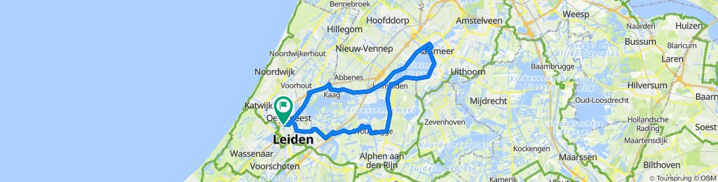 Fast ride in Oegstgeest