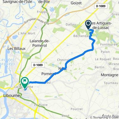 De 435 Route du Passage de l'Ane, Les Artigues-de-Lussac à 112 Rue de la Marne, Libourne