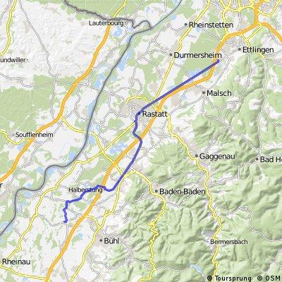 Eine gemütliche Halbtagestour von Bruchhausen nach Moos und ggf. zurück