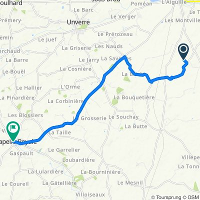 Moderate route in Chapelle-Royale