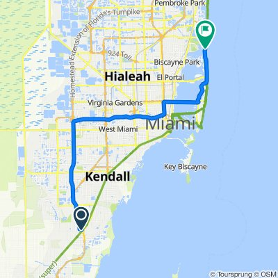 11020 SW 196th St, Cutler Bay to Collins Ave, Sunny Isles Beach