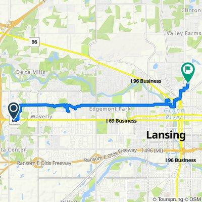 7330 W Saginaw Hwy, Lansing to 803 Call St, Lansing
