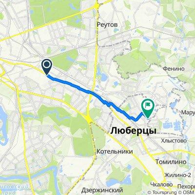 От Рязанский проспект 22, Москва до проспект Победы 18, Люберцы