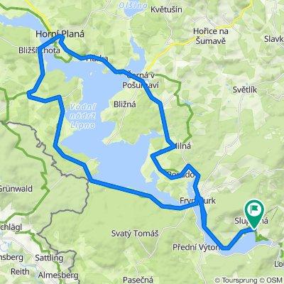 Jezerní cyklotrasa Lipno
