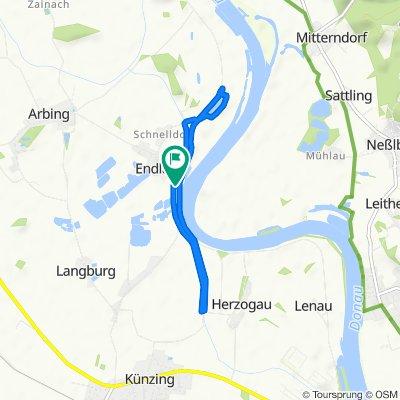 Moderate route in Osterhofen