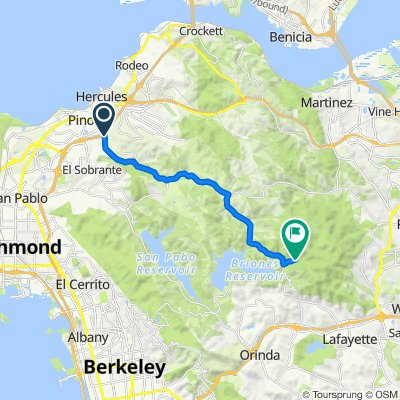 2742 Pinole Valley Rd, Pinole to 1251–1259 Briones Rd, Lafayette