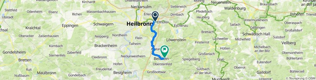 Schwabstraße 1, Weinsberg nach Im Löchle 14/2, Beilstein