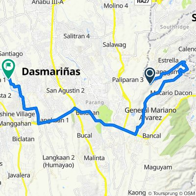 Unnamed Road, San Pedro to Unnamed Road, General Trias