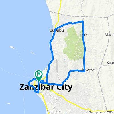 Mlandege Road, Zanzibar to Mlandege Road, Zanzibar