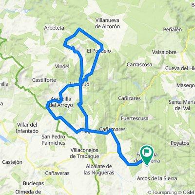 Castillejo-Priego-Alcantud-El Recuenco-El Pozuelo-Albendea- Priego-Castillejo