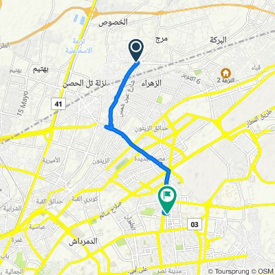 Moderate route in Nasr City